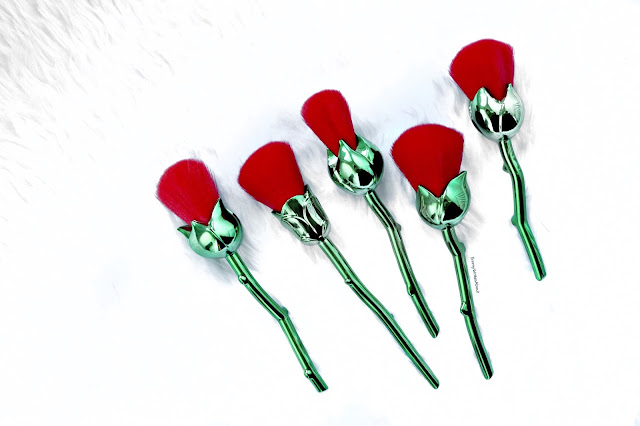 beauty and the beast style rose brushes