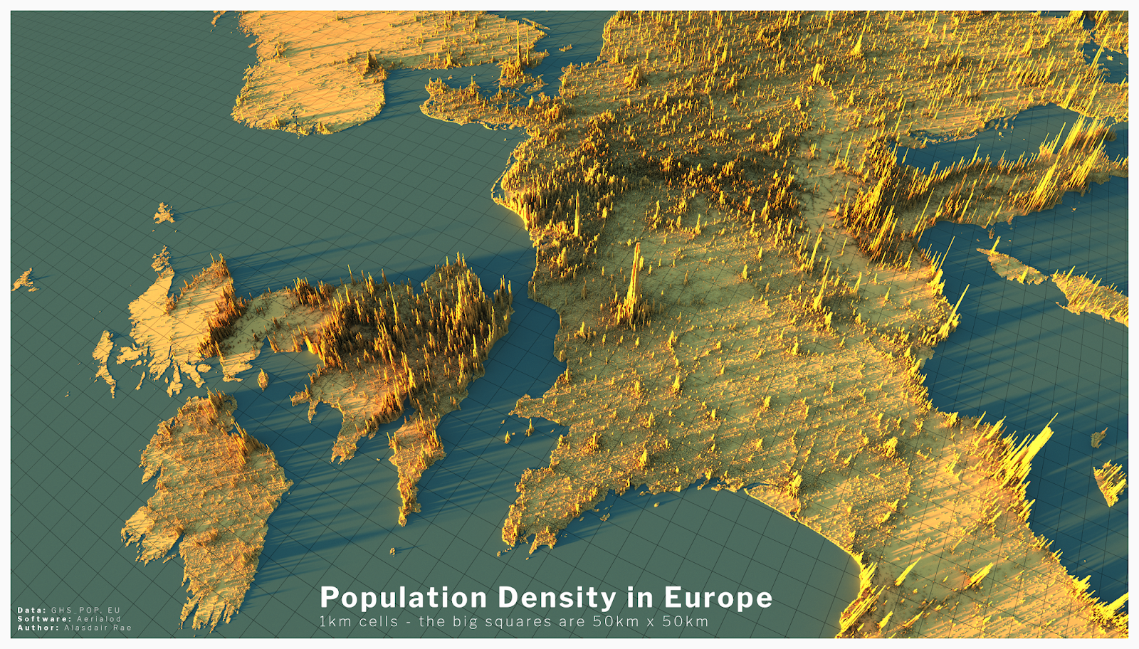 population map of europe Stats, Maps n Pix: Population density in Europe