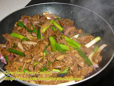 Pork with Spring Onion Stirfry - Cooking Procedure