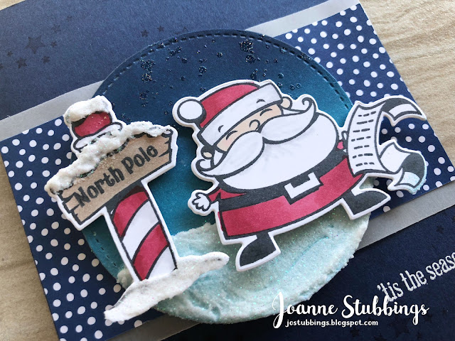 Jo's Stamping Spot - ESAD 2018 Holiday Catalogue Blog Hop using Signs of Santa and Santa's Signpost by Stampin' Up!