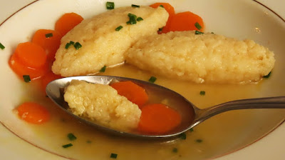 Juha od junetine s griz knedlama / Beef soup with semolina dumplings