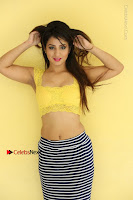 Cute Telugu Actress Shunaya Solanki High Definition Spicy Pos in Yellow Top and Skirt  0498.JPG