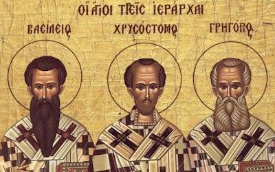 Διαβάστε τη ζωή των Τριών Ιεραρχών