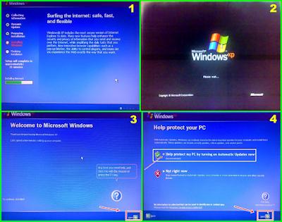 Proses pada saat instalasi Windows XP windows sedang berjalan