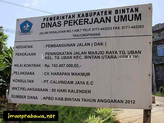 Papan Mesjid Raya Tanjung Uban