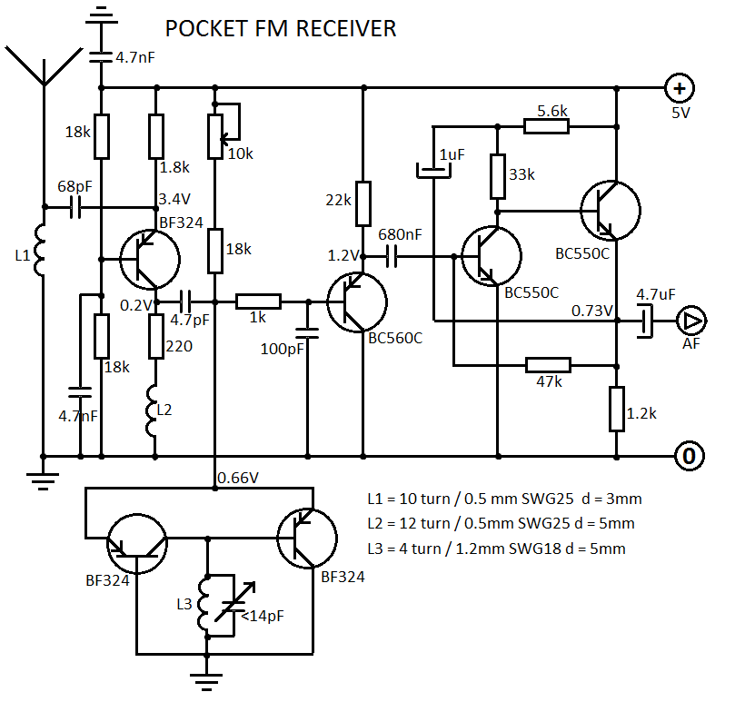 schematic diagram of the simple receiver