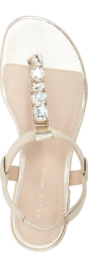 Pelle Moda 'Venice' Embellished Flat Sandal