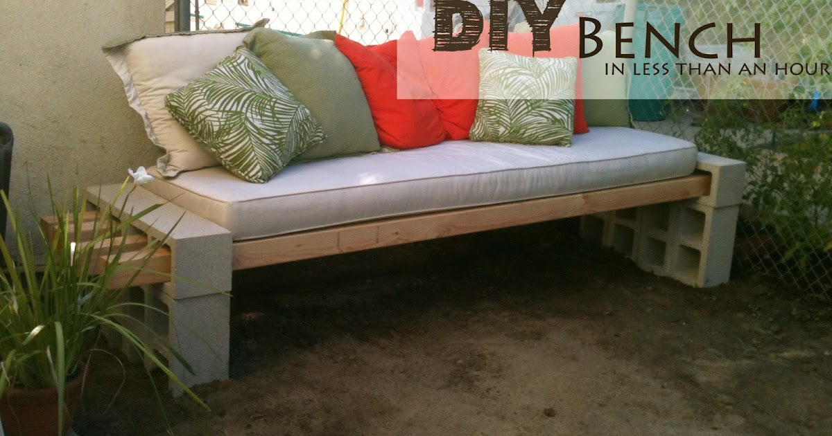 Wondrous The Basement Diy Outdoor Bench In Less Than An Hour Evergreenethics Interior Chair Design Evergreenethicsorg