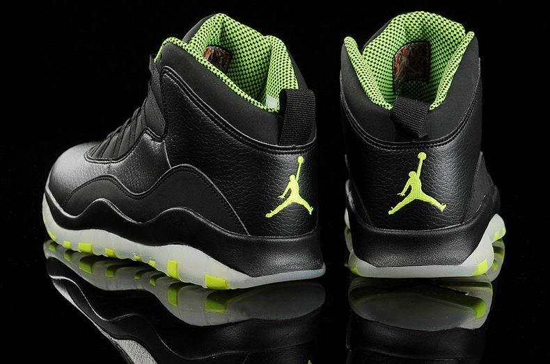 bf7885ed557 ... reduced air jordan 10 venom green color black cool grey anthracite venom  green style code 310805 ...