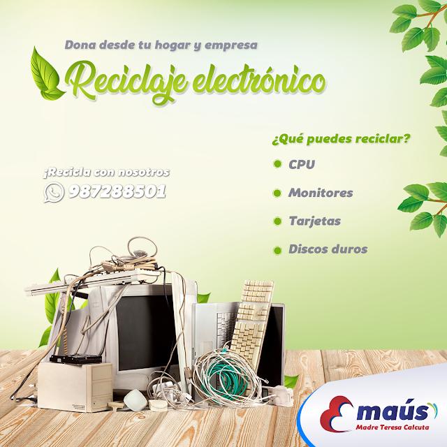 Dona y recicla desde tu hogar objetos electrónicos en Lima