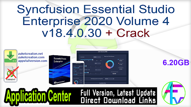 Syncfusion Essential Studio Enterprise 2020 Volume 4 v18.4.0.30 + Crack