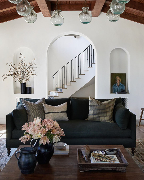 Spanish inspired living room design