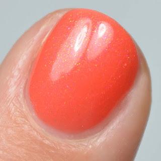 coral shimmer nail polish