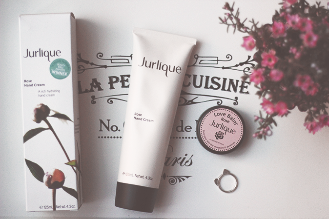 Jurlique rose hand cream and rose love balm