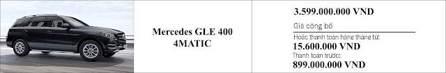 Giá xe Mercedes GLE 400 4MATIC 2019 hấp dẫn bất ngờ