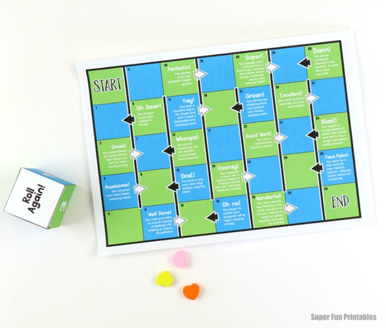 printable games for kids - earth day game