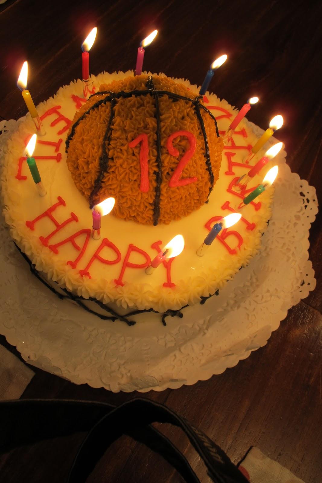 Tortelicious Basketball Cake