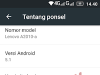 ROM Resmi Lenovo A2010-a Lollipop Android 5.1