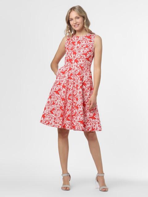 Sukienka Marie Lund wzorzysta/czerwona