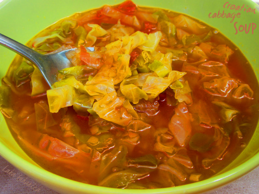 Croatian cabbage soup by Laka kuharica: soup popular in the North-western Croatia usually is prepared in summer.