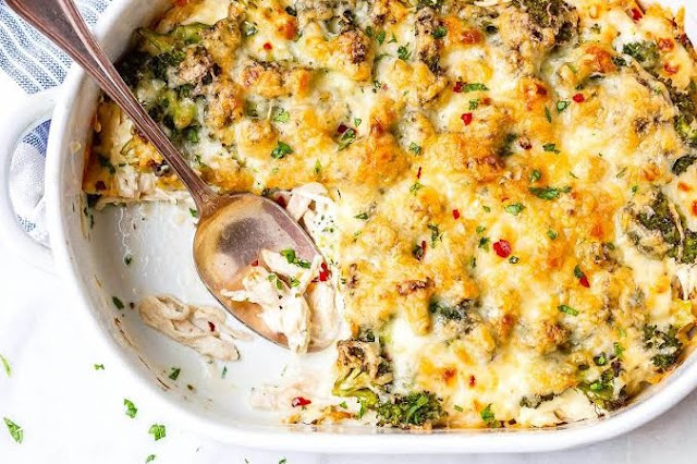 Broccoli Cheese Casserole #lowcarb #dinner