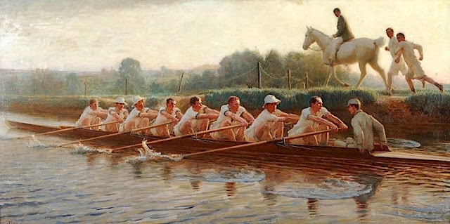 Hugh G. Riviere (1869-1956) In The Golden Days New College, Oxford.
