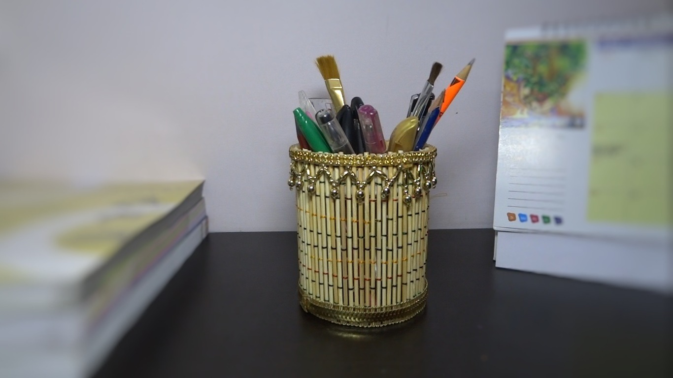 Homemade Pencil Holders Paper Crafts Pencil Stand