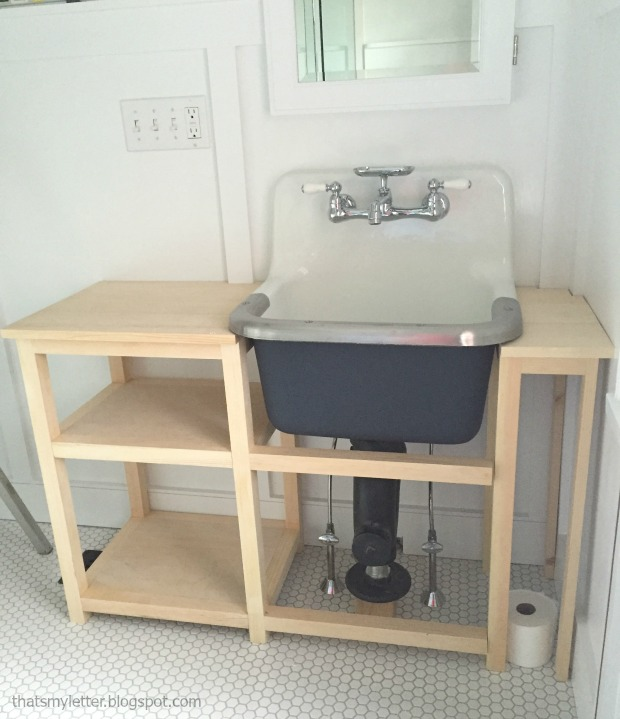 diy vanity for wall mounted sink free plans