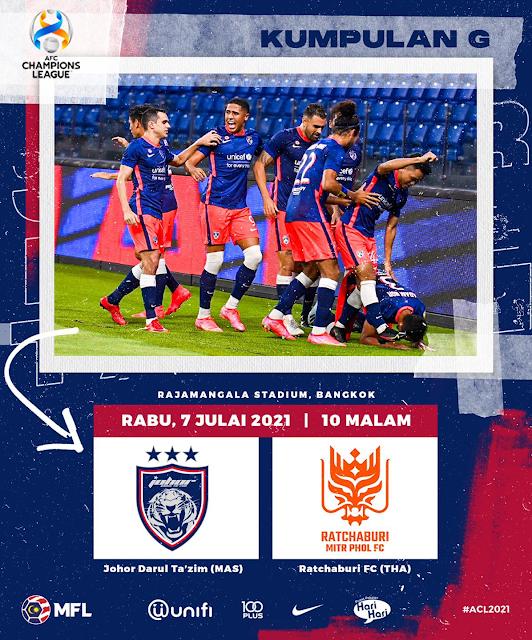 Live Streaming JDT vs Ratchaburi  7.7.2021
