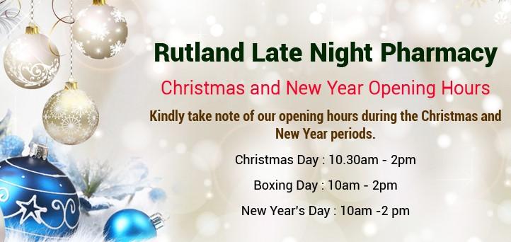 rutland late night pharmacy oakham rutland christmas and new year opening 2017 - Pharmacy Open On Christmas Day