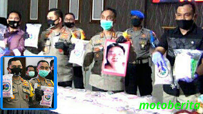 pengungkapan sabu dan happy five dalam pers rilis di polrestabes surabaya