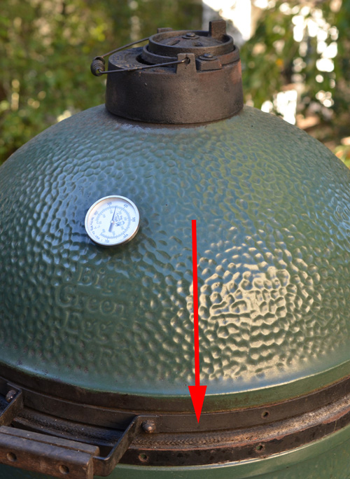 Big Green Egg with an alignment problem