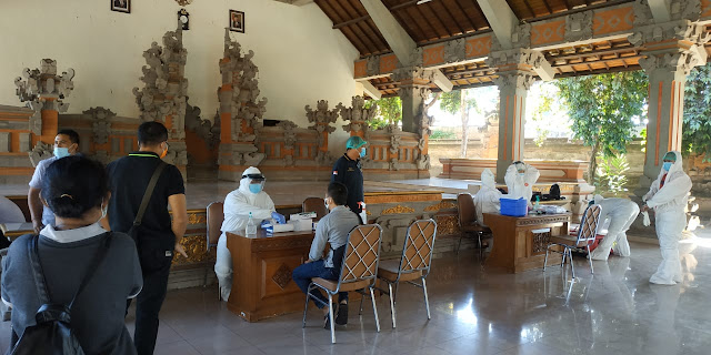 Dozens of Bali Reporters Conduct Rapid Tests