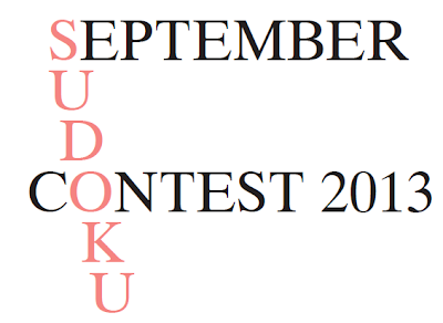Logic Masters India September Sudoku Contest
