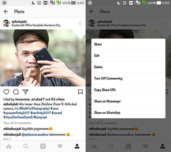 Aplikasi Instasave di Instagram