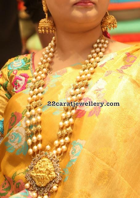South Sea Pearls Three Layer Set Lakshmi Pendant