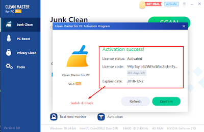 Screenshot Clean Master for PC 6.0 Full Version