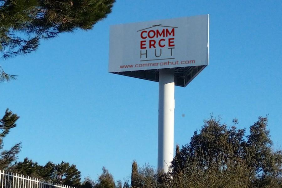 Commerce Hut Mock Billboard