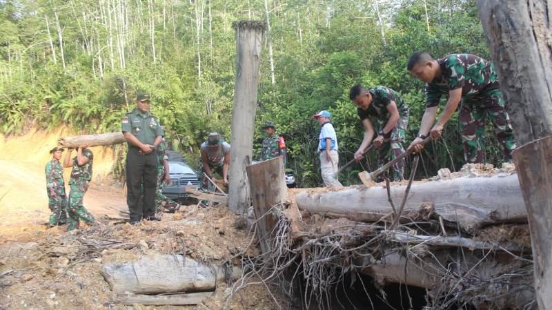 Upaya TMMD 106 Menyatukan Dusun di Ujung Negeri