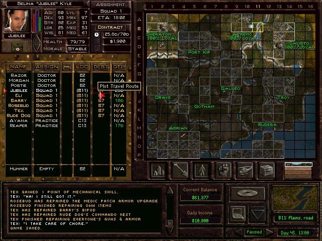 Jagged Alliance 2: Urban Chaos - Land Map Screenshot | The