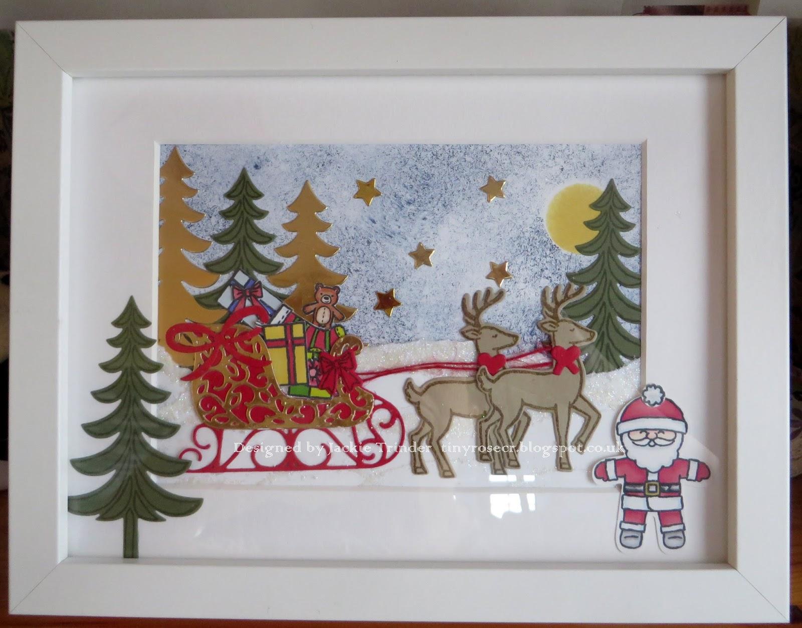 Tinyrose\'s Craft Room: Christmas Frame - Santa and his Sleigh