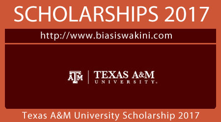 Texas A&M University Scholarship 2017