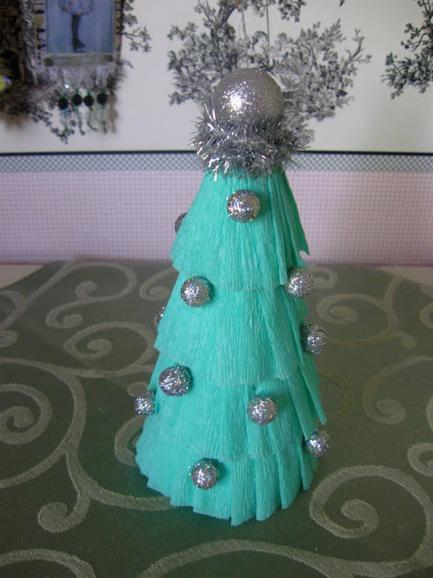 Something Special Simple Crepe Paper Christmas Tree Tutorial