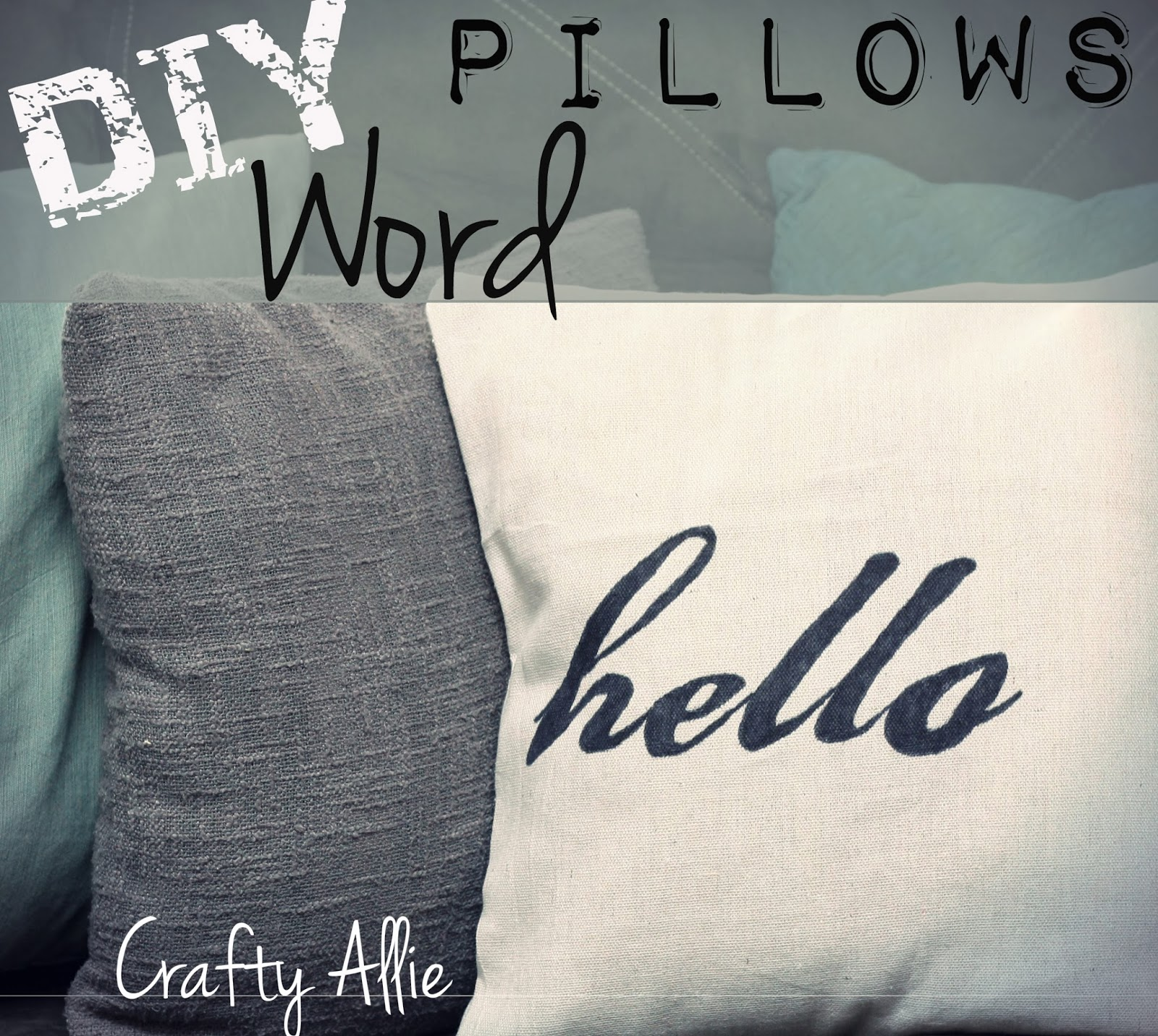DIY Word Pillows (Inspiration Pillows)