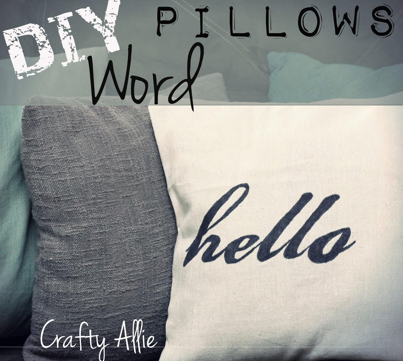 DIY Word Pillows (Inspiration Pillows)