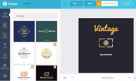 Cara membuat logo vintage secara online-5
