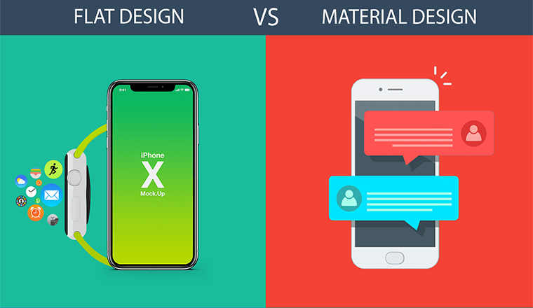 Material vs. Flat Design - What to choose? #infographic