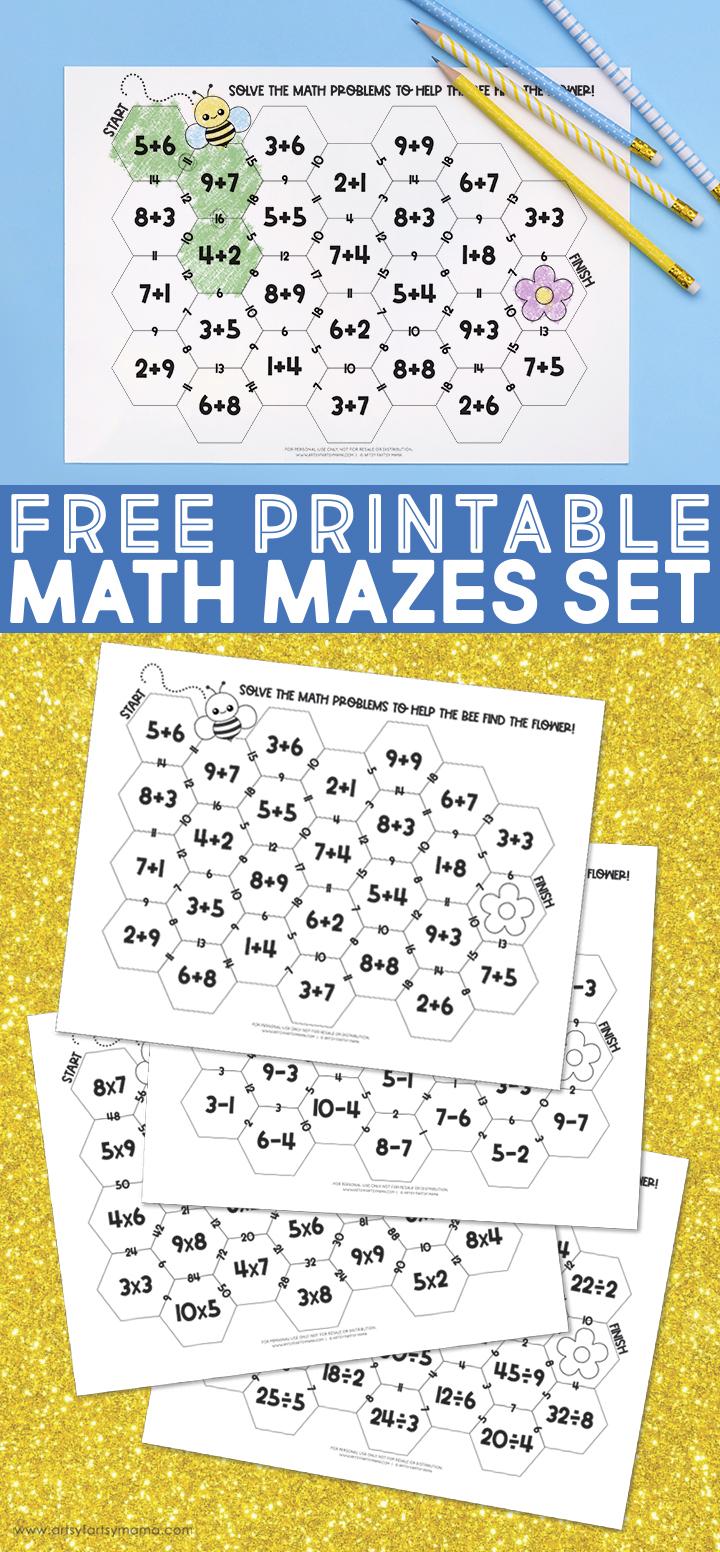 Free Printable Math Mazes