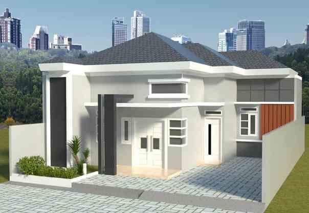 Bentuk rumah 1 lantai gaya minimalis