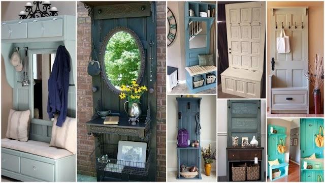 DIY Έπιπλα Εισόδου από παλιές πόρτες